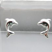 Sterling Silver Dolphin Post Earrings
