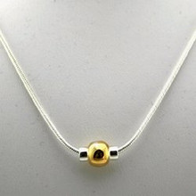 Sterling Silver and Gold Plate Cape Cod Necklace