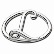 Convertible Sterling Silver L Initial Clasp