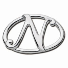 Convertible Sterling Silver N Initial Clasp
