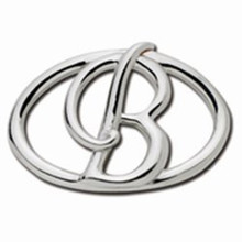 Convertible Sterling Silver B Initial Clasp