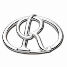 Convertible Sterling Silver R Initial Clasp