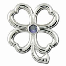 Convertible 4 Leaf Clover Birthstone Clasp June