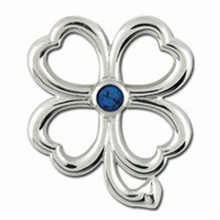 Convertible 4 Leaf Clover Birthstone Clasp Sept.