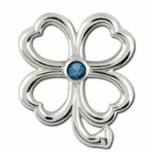 Convertible 4 Leaf Clover Birthstone Clasp Dec.