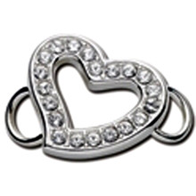 Convertible Heart Clasp with Swarovski Crystals