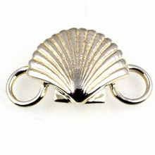 Convertible Sterling Silver Scallop Shell Clasp 1