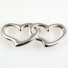 Convertible Sterling Silver Double Hearts Clasp