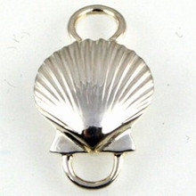Convertible Sterling Silver Scallop Shell 1 Clasp