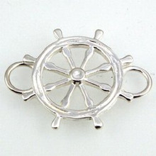 Convertible Sterling Silver Ships Wheel Clasp