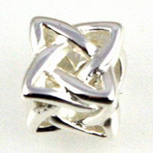 Sterling Silver Celtic Knot Bead