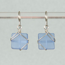Simplicity Wrap Seaglass Earrings