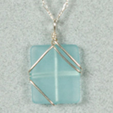 Simplicity Wrap Seaglass Necklace