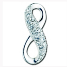 Sterling SIlver and Swarovski Crystals Infinity Clasp