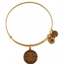 Alex and Ani 4 Leaf Clover Russian Gold