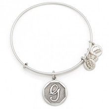 Alex and Ani G Initial Bangle Russian Silver