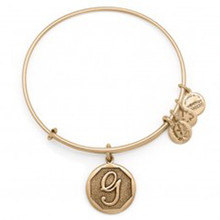 Alex and Ani G Initial Bangle Russian Gold