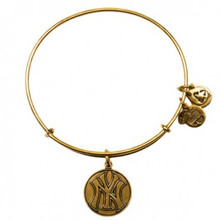 Alex and Ani New York Yankee Cap Logo Bangle Russian Gold