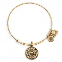 Alex and Ani U.S. Coast Guard Bangle Russian Gold
