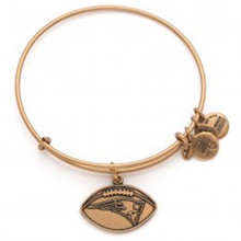 1 Alex and Ani Patriots Football Bangle Russian Gold