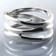 Sterling Silver 3 Lines Ring
