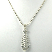 Sterling Silver Fishbone Necklace