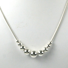 Sterling Silver Multi Ball Necklace