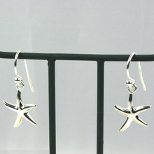 Sterling Silver Dangle Small Starfish Earrings