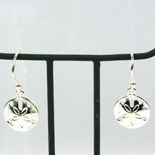 Sterling Silver Dangle Sand Dollar Earrings