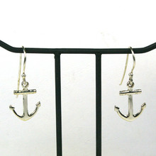 Sterling Silver Dangle Anchor Earrings