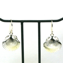 Sterling Silver Dangle Scallop Earrings