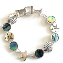 Multi Shell with Abalone Colored Fashion Bracelet