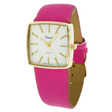 Square Face Designer Inspired Pink Watch