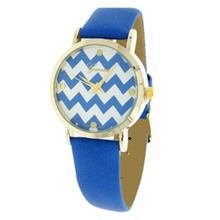 Royal Blue Chevron Watch