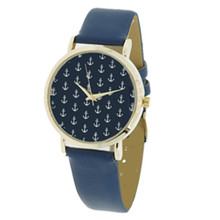 Navy with White Anchors Watch