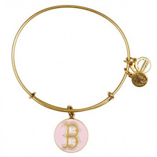 Alex and Ani Red Sox Pink Enamel Bangle Russian Gold