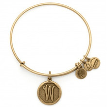 Alex and Ani W Initial Bangle Russian Gold