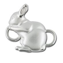 Convertible Sterling Silver Bunny Clasp