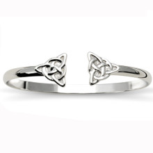Sterling Silver Double Celtic Knot Cuff Bracelet