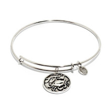 Crab Expandable Bangle Silver Plate