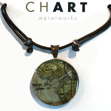 Julington Creek  Chart Grand Surfer Necklace