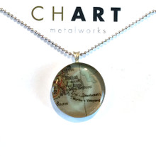 Cape Cod, Boston and the islands Chart Classic Necklace