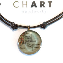 Boston, Cape Cod and Islands Chart Surfer Necklace
