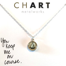Sailboat Chart Petite Necklace