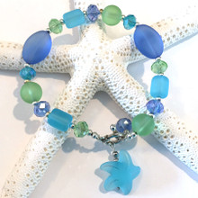 Sea Glass Inspired  Bracelet 17