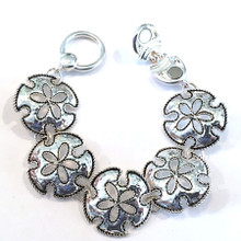 Large Sanddollars Fashion Bracelet with Magnetic Clasp