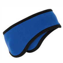 Fleece Colored Headband with Black Trim