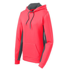 Ladies SportWick Fleece Colorblock Hooded Pullover with Monogram