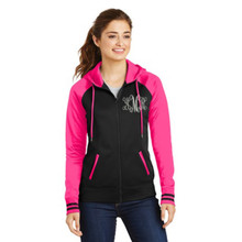 Ladies Varsity SportWick Fleece Full Zip Hooded Jacket