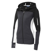 Ladies Tech-Fleece Colorblock Full Zip Hooded Jacket